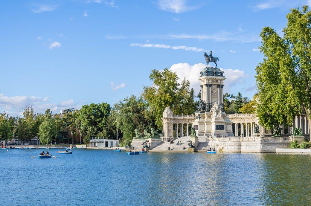 Het meer van Retiro Park