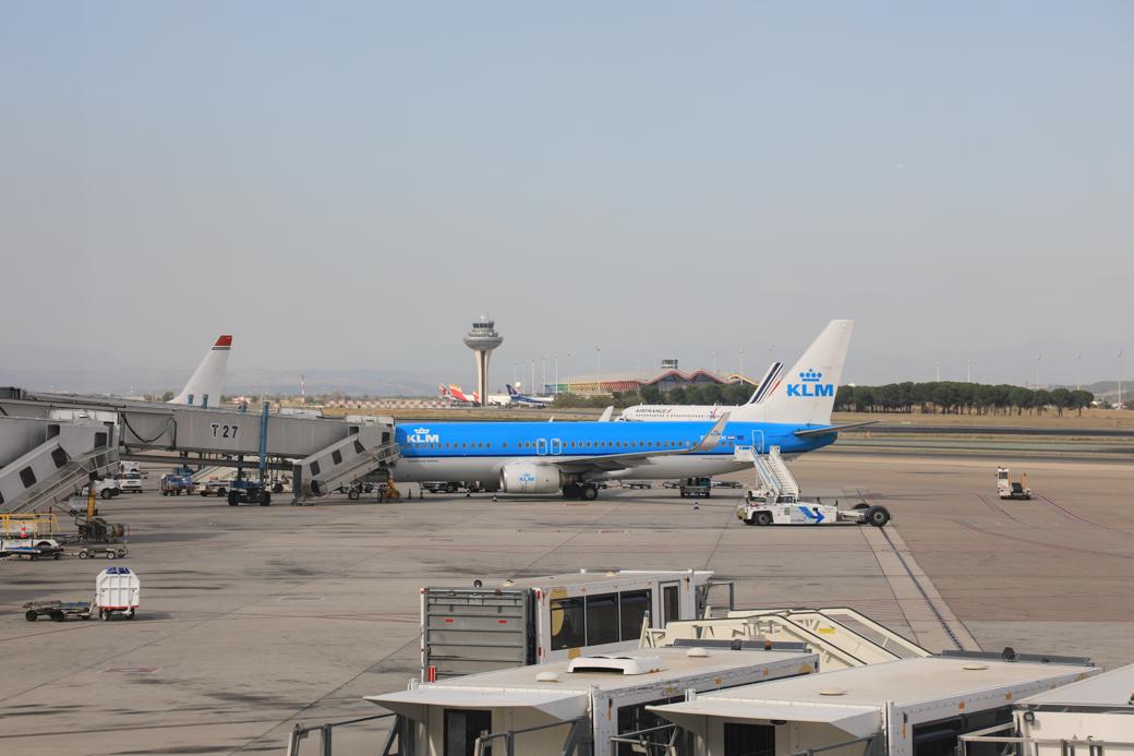 vliegen naar Madrid